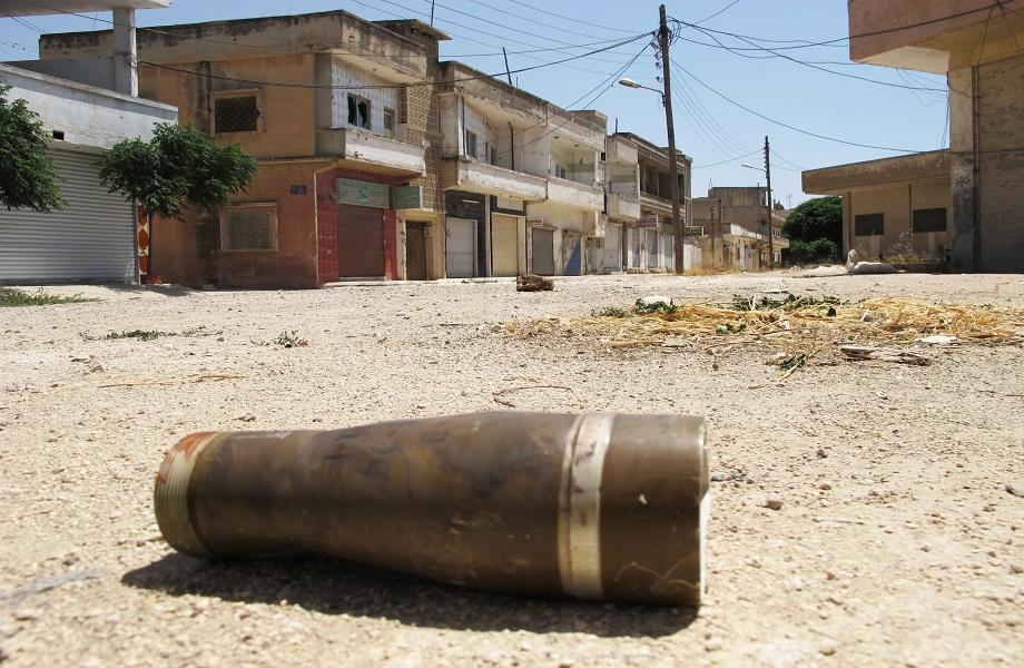 Resto-de-arma-após-ataque-em-Homs-na-Síria-Foto-UN-Photo