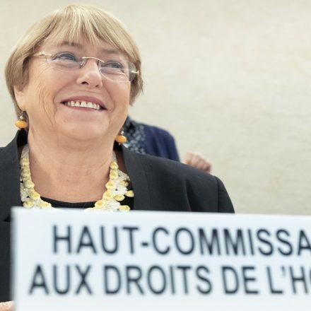 A alta comissária da ONU para os direitos humanos Michele Bachelet em foto de 2019 (Foto: UN Photo)