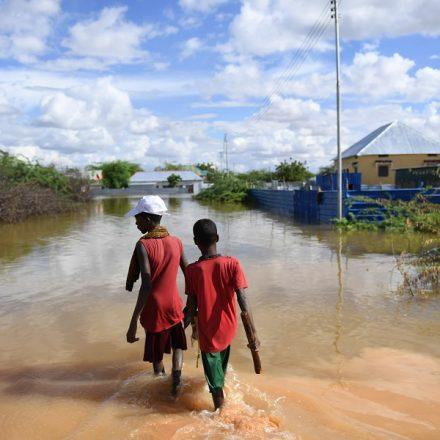 Enchente alaga área residencial de Belet Weyne, na Somália (Foto: UN Photo)