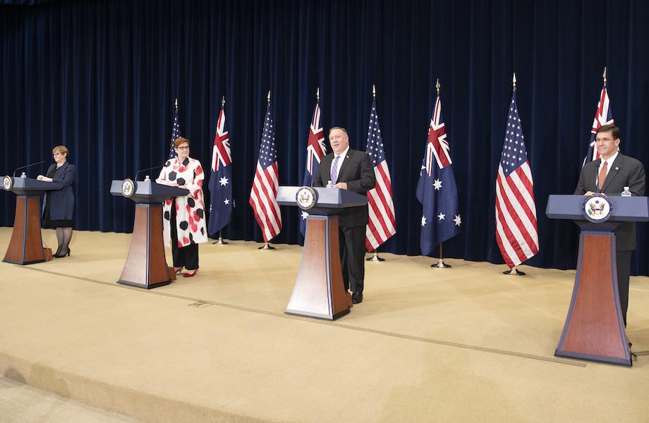 Encontro entre EUA e Austrália é marcado por críticas à China